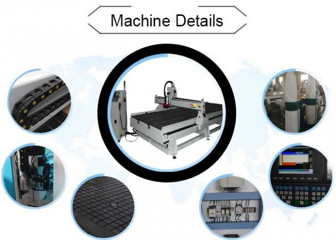 White ATC CNC 3D Router Miling Machine with Syntec Control system For Cutting
