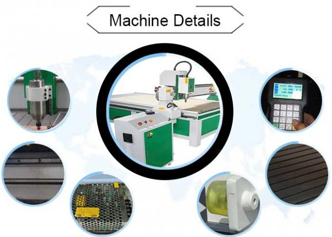 Industrial CNC 3D Router Machine With 15 Mm Thickness Steel Constructure Body