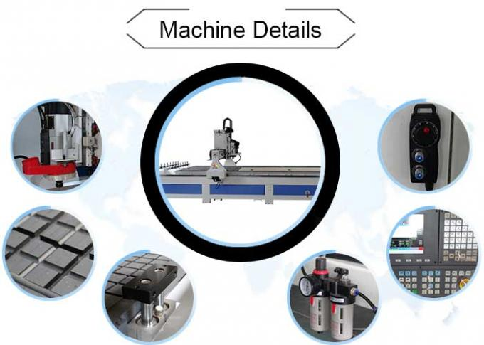 Door Engraving ATC CNC Router Milling Machine With 10 Zones Vacuum Table