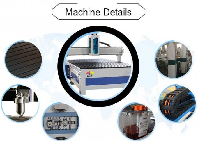 5.5 KW Air Cooling Spindle CNC Router Milling Machine V Bit CNC Carving Machine