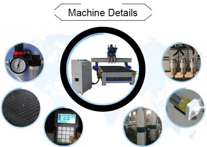 Three Spindles CNC 3D Router Machine , CNC Engraving Machine Computer Controlled