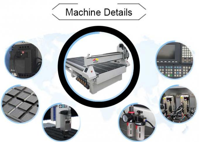 MDF Cutting 3 Axis CNC Router Engraver With Square Spindle Vacuum Table