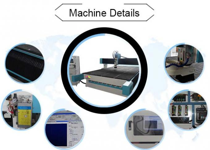 High Efficiency Industrial 3 Axis CNC Router Machine With Mist Cooling System