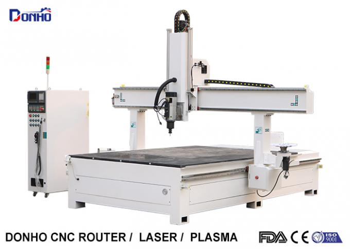 Styrofoam Model Engraving 4 Axis CNC Router Machine With T-slot Table HSD Spindle