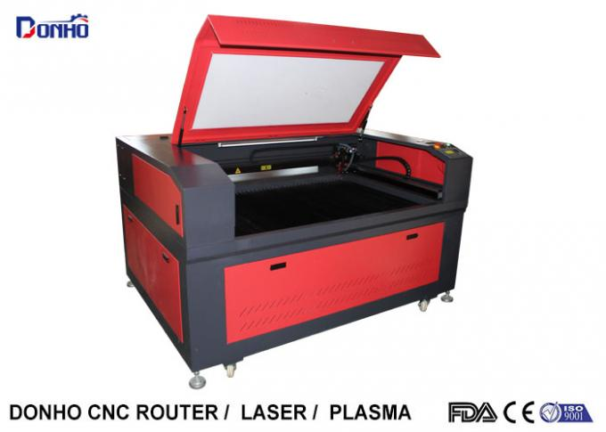Red Color CO2 Laser Engraving Machine with Leetro Control System For Acrylic / Wood