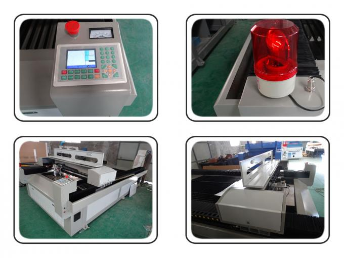Metal / Fabric Laser Cutting Machine , Industrial CNC Fabric Cutter With Alarm Light