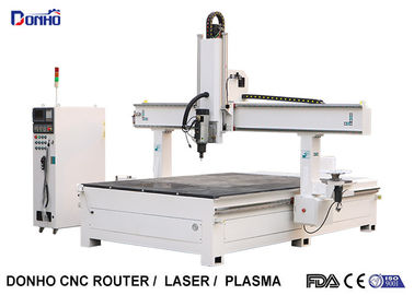 China Styrofoam Model Engraving 4 Axis CNC Router Machine With T-slot Table HSD Spindle supplier