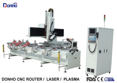 Single Arm 4 Axis CNC Router Machine For Caring Drilling Holes On Square Cylinder