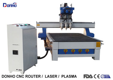 China Three Spindles CNC 3D Router Machine , CNC Engraving Machine Computer Controlled supplier