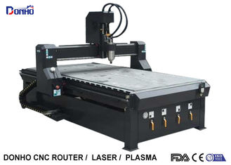 China Black 4 Zones Vacuum Table CNC 3D Router Machine , Wood Carving Router Machine supplier