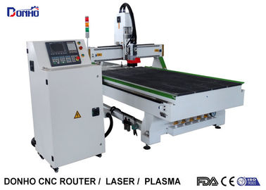 9.0 KW Woodworking ATC CNC Router Machine With 6 Zones Vacuum Table