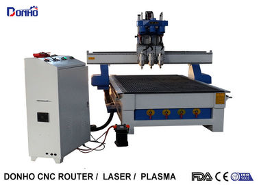China Three Heads CNC Router Engraver Milling Machine With 3.0 KW Air Cooling Spindle supplier