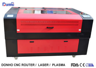 China Red Protective Cover CO2 Laser Cutter , CNC Laser Cutting Machine For Acrylic supplier