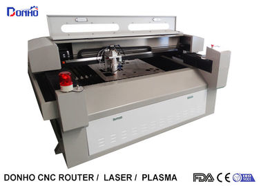 China Metal / Fabric Laser Cutting Machine , Industrial CNC Fabric Cutter With Alarm Light supplier