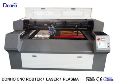 China Double Heads Fabric Acrylic Laser Cutting Machine With RD 6332M Control System supplier