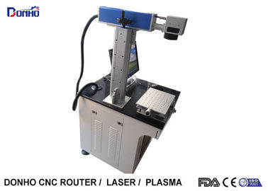 China 20W Table Type Metal / Fiber Laser Marking Machine With Computer Controlled supplier