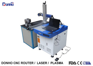 China 30W Portable Laser Marking Machine With Rotary Axis And Moving Marking Head supplier