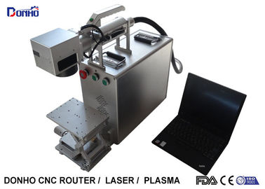 China Adjustable Table Portable Fiber Laser Marking Machine Stable Working Performance supplier