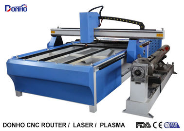China Blue CNC Plasma Metal Cutting Machine / Industrial Plasma Cutter With Rotary Axis supplier