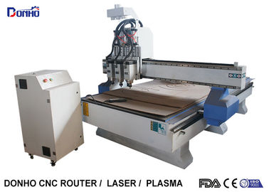 Three Spindles CNC Milling Machine , 3D CNC Router Wood Carving Machine