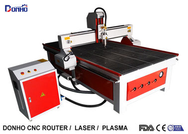 Red Color CNC Router Wood Carving Machine , Industrial CNC Router Table