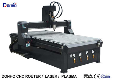 Black 4 Zones Vacuum Table CNC 3D Router Machine , Wood Carving Router Machine