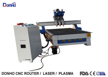 China 3 Working Head CNC Router Milling Machine With 1300 * 2500 mm 6 Zones Vacuum Table factory
