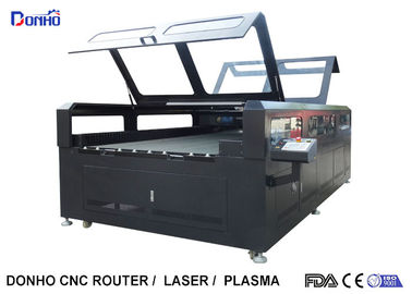 China Double Protective Cover Co2 Laser Cutting Machine For Fabric / Crystal / Acrylic / Wood factory