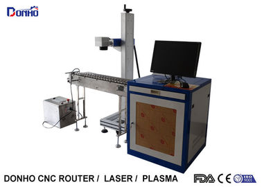 Precise 20W Fiber Laser Marking Machine With Conveyor Belt Easy Operate