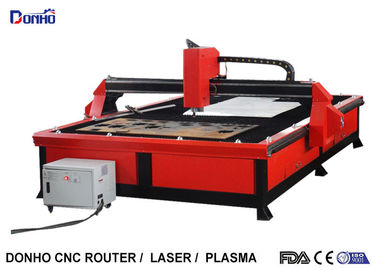 China Red Color Plasma Metal Cutting Machine with 2000 mm x 3000 mm Working Size factory